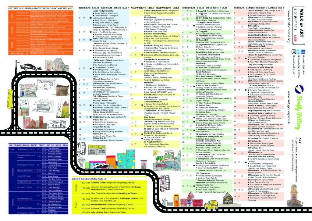 Horsforth Walk of Art Map