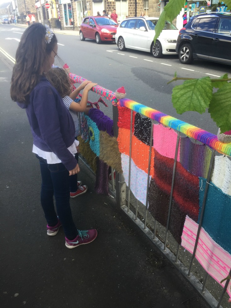 Yarn Bomb Railings